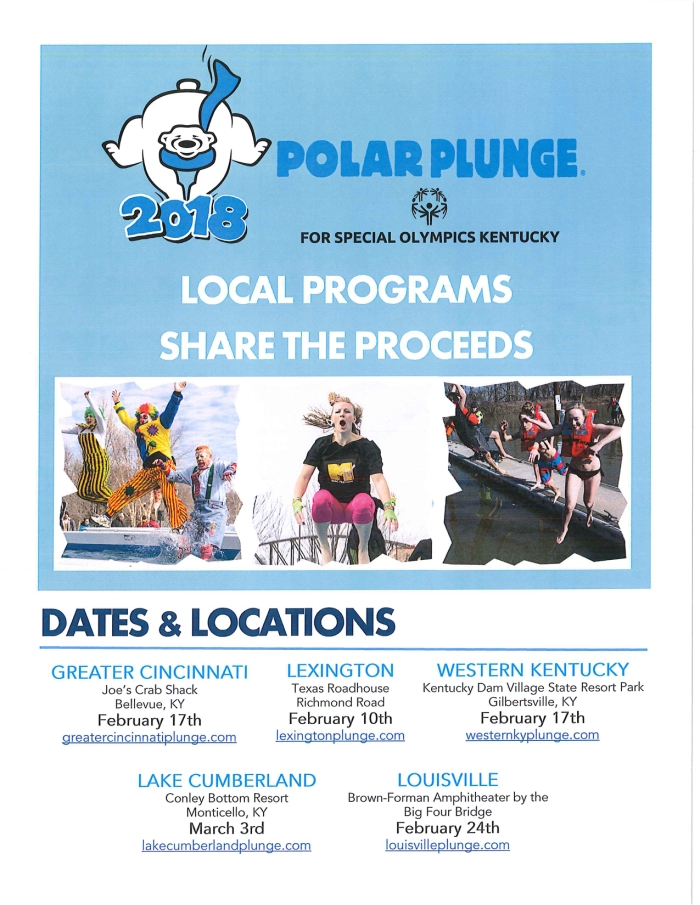 2018 Polar Plunge Dates and Locations